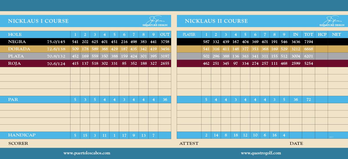 NICKLAUS I  |  NICKLAUS II